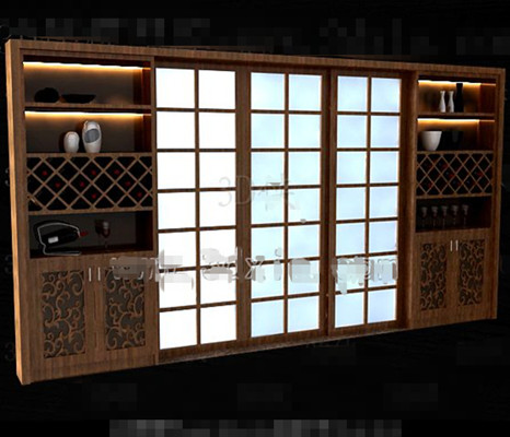 Link toBrown wooden japanese-style wine cabinet