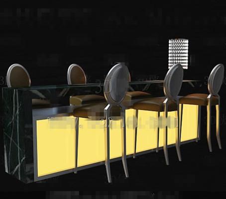 Yellow bar chairs combination