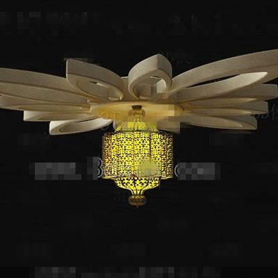 Yellow petal-style chandeliers