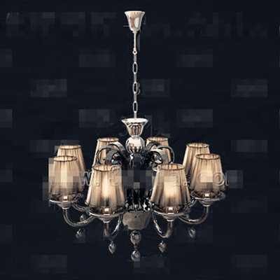 Retro dark yellow metal chain chandelier