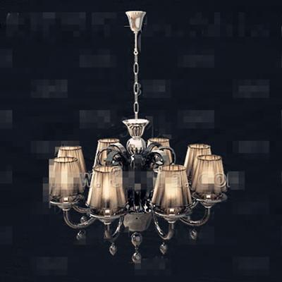 Link toRetro dark yellow metal chain chandelier