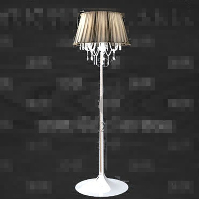 Crystal screens decorated floor lamp