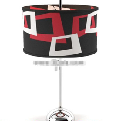 Red black and white shade floor lamp