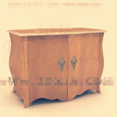 Wooden double doors bedside cabinet