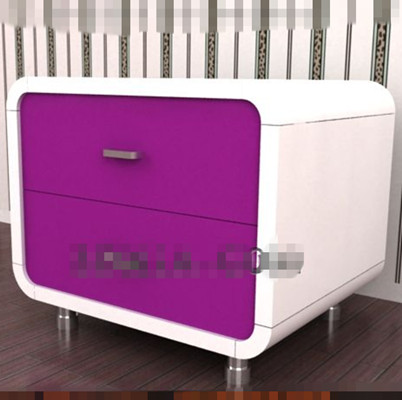 Purple fashion bedside cabinet