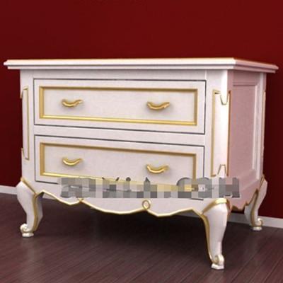Phnom Penh white drawers bedside cabinet