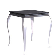 Retro black European-style coffee table