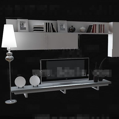Link toWhite minimalist display style tv wall