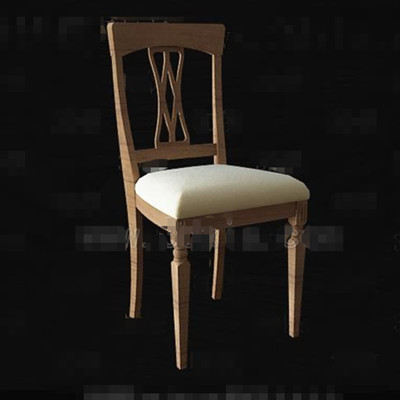 Wooden hollow seatback chair