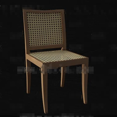 Rattan knitted hollowing chair