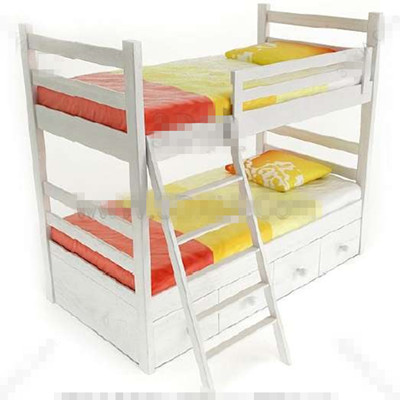 White fresh children stacked bed