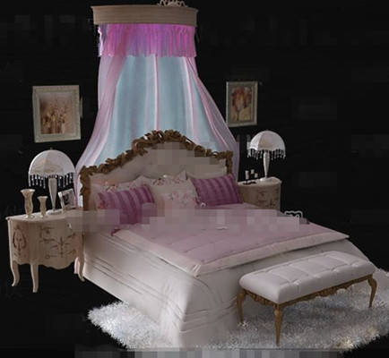 Link toEuropean style exquisite pink double bed