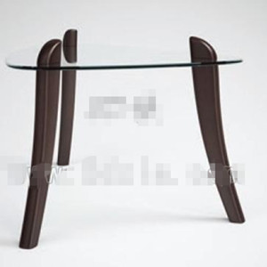 Triangle transparent glass tea table