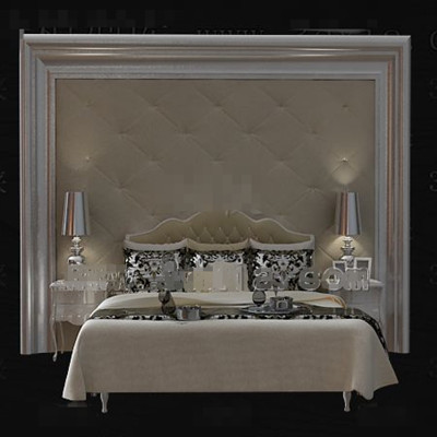 Gorgeous cortical beige double bed
