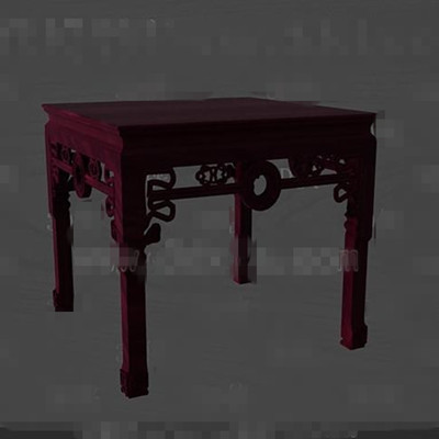 Dark red wooden engraving chair