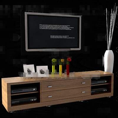 Modern minimalist long TV cabinet