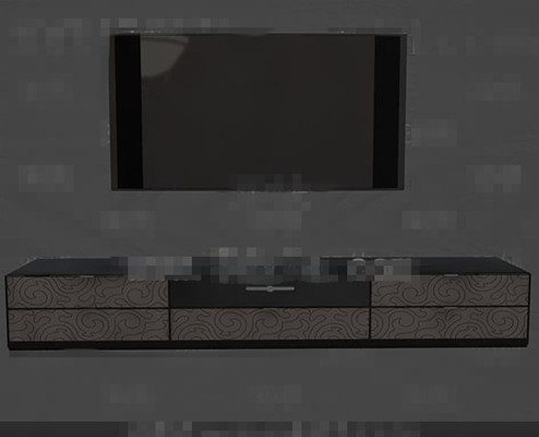 Modern fashion gray and black TV wall