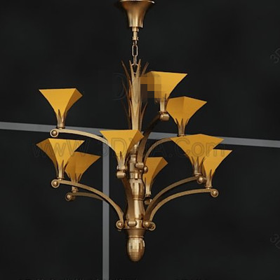 Golden Petunia metal chandelier