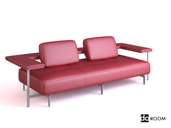 Red cortex personalized sofa