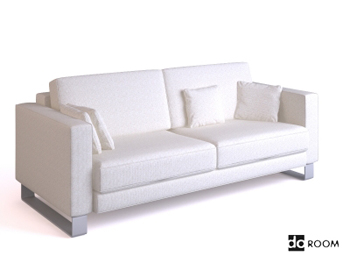 White comfortable double seats sofa