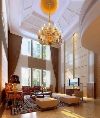 Luxurious and spacious living room