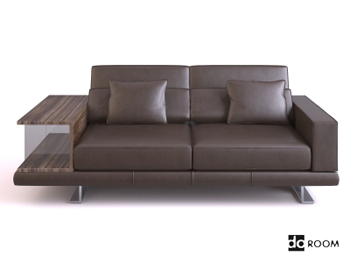 Dark coffee color leather sofa