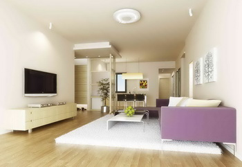Modern white main theme living room