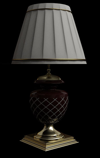 White pleated checkered table lamp
