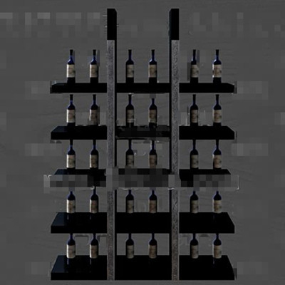 Link toGray and black unique wine cabinet