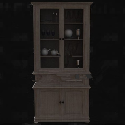 Multi-layer wooden wine cabinet