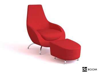 Link toRed comfortable multifunctional chair