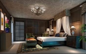 European dark retro bedroom