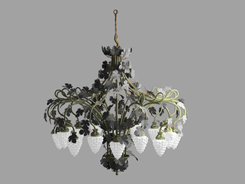 The unique design of strawberries chandelier
