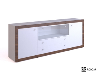 White multi-functional TV cabinet