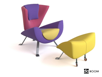 Color stitching creative arts chairs