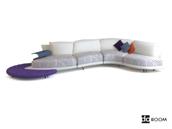 Long white creative multiplayer sofa