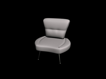 White simple and comfortable chair