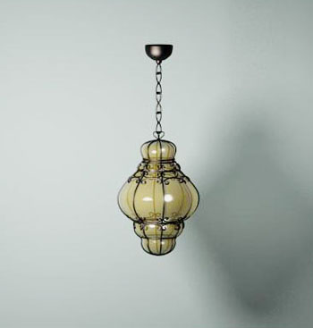 Modern branched glass pendant wall lamp