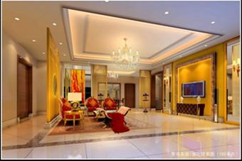 warm colors of modern living room - Model Salon Moderne