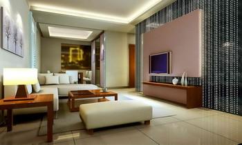 Link toWarm yellow comfortable living room