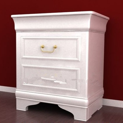 White simple European-style cabinet