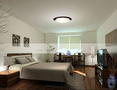 Simple and elegant master bedroom