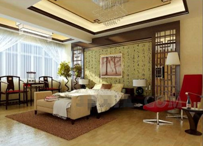 Link toChinese style charm warm bedroom