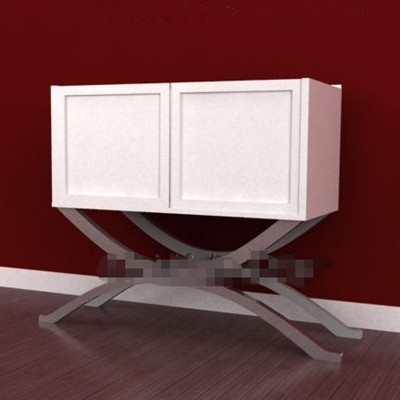 Link toWhite curved legs two-door cabinet