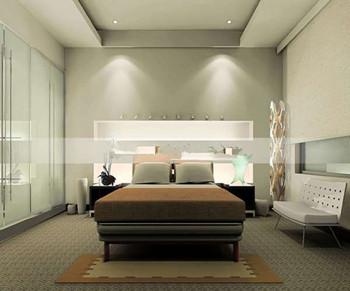 Modern and elegant minimalist bedroom