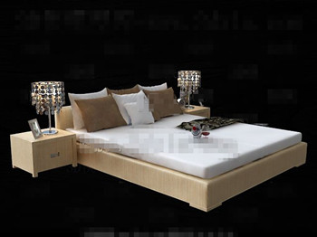 Modern minimalist comfortable double bed