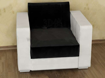 Comfortable black and white single sofa
