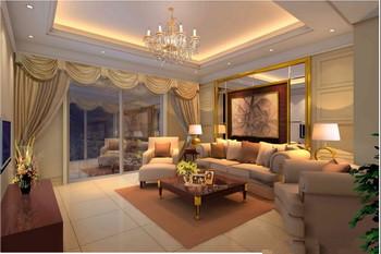 Modern spacious comfortable living room