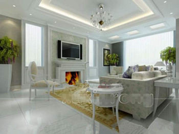 Pure white and elegant living room