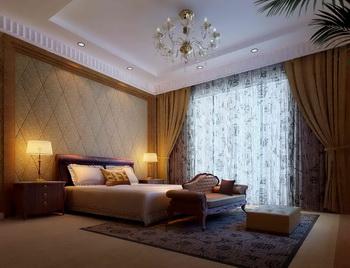 Modern warm big space bedroom